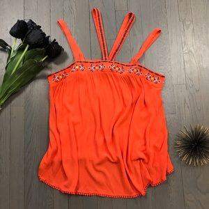 Torrid Orange Strappy Plus 2X 18/20 Tank Top Shirt